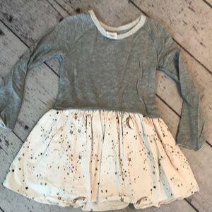 EGG dress w/ Corduroy star and moon ruffled skirt